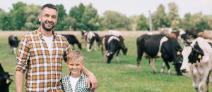 father son on farm